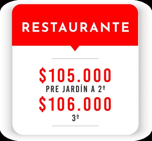 Tarifa Restaurante Sede Soacha