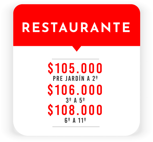 Tarifa Restaurante Sede Villa María